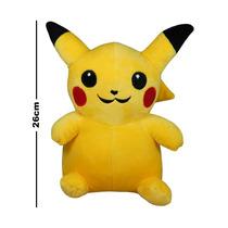 Pokemon Peluche 26 Cm Pikachu Pichu Ash Ketchum Amarillo