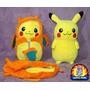 Peluche Pokemon Center Pikachu Nebukuro Charizard 30 Cm