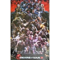Posters Gears Of Wars 3, Marvel Vs Capcom 3 Y Toy Story 2 !!