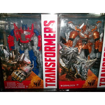 Optimus Prime Y Grimlock Voyager Transformers Age Extinction