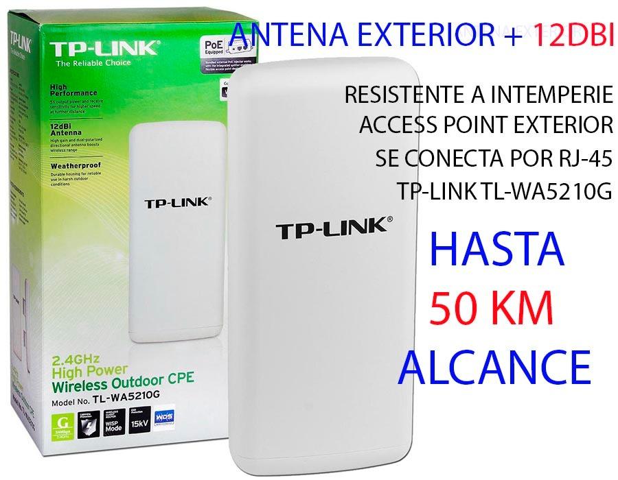 Antena Wifi Exterior Largo Alcance 12dbi Tp Link 50km Access 1 En Mercadolibre