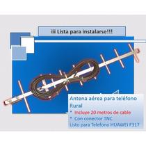 Antena Con 20 Metros De Cable Para Telefono Rural Internet
