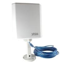 Antena De Red Wi-fi P/exteriores Via Usb Cable 10mts