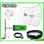 Antena Rejilla + Kasens G9000 + Pigtail + Cable Sma + Beini