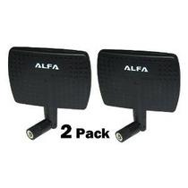 2 Paquete De Alfa 2.4hgz 7dbi Alta Ganancia Screw-on Antena