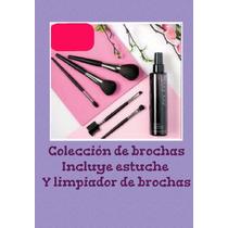 Marykay Coleccion De Brochas, Estuche Y Limpiador Liquido