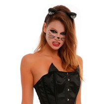 Black Cat Temporary Face Tattoos Halloween Tatuajes Disfraz