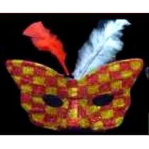 10 Antifaces Mariposa Con Plumas Varios Colores 7488
