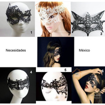 Sexi Antifaz Tipo Encaje Negro Y Blanco,fiesta,disfraz