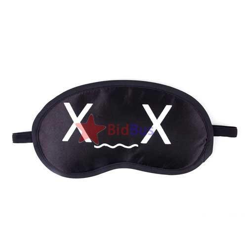 100% Antifaz para Dormir Llenado de poliester-Negro + Lazo Cable Gratuito C5W1