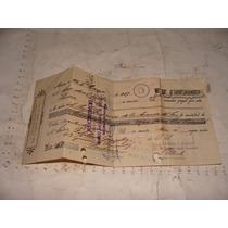 Antiguedad Año 1927 , Recibo Con Sellos