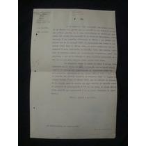 Antiguo Documento 1907 Sobre Tranvía De Iztapalapa, México
