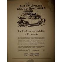 Antiguo Anuncio De Autos Dodge Brothers Década De 20´s Maa