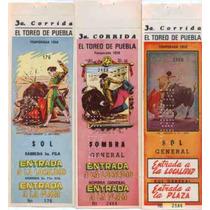 Coleccion De Viejos Boletos Para Corrida De Toros 1958