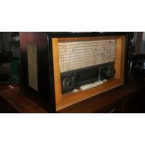 Radio De Bulbos De Madera, Para Decoración. No Funciona