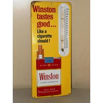 Cartel Antiguo De Cigarros Con Termometro, De Los 50s