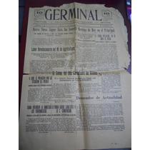 Periódico Germinal, Toluca, 29 Agosto De 1915