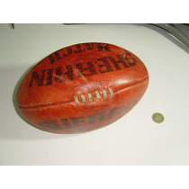 Antiguo Balon De Futbol Americano Football En Cuero Afl