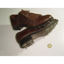Antiguos Zapatos De Golf Con Picos Puntas De Museo 50