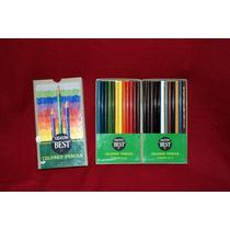 Caja De 24 Lápices De Colores Dixon Best N. J. U S A Años 20