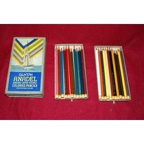 Caja De 24 Lápices De Colores Dixon Best N.j. Usa Años 20