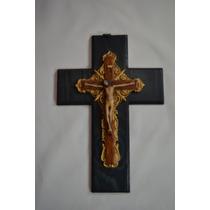 Cristo Con Cruz En Madera