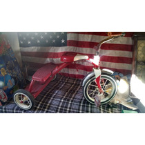 Triciclo Antiguo Metalico Colror Rojo Radio Flyer No Apache