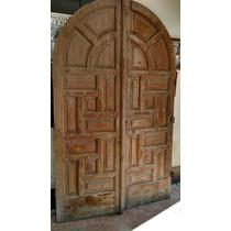 Puerta Principal Antigua De Caoba!