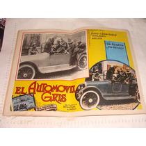 Antiguo Cartel De Pelicula El Automovil Gris