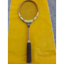 Antigua Raqueta De Tenis De Madera