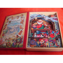 Hermoso Libro Aleman Caja Musical Animado Duendes Navidad