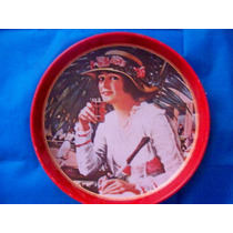Vieja Charola Coca Cola Con Mujer Tipo Años 1920 ´s Hm4