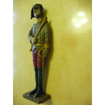 Escultura Madera Tallada Pintada Al Oleo Muy Rara Vintage