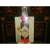 Lamina De Metal Antigua Dos Equis Con Forma De Cerveza Flr