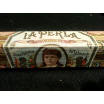 Antigua Caja De Puro. La Perla. Contenido Original