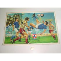Vintage Mantel Individual Plastificado De Futbol Cruz Azul