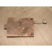 Antigua Chapa De Metal Y Bronce Oxidada