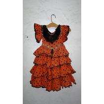Antiguo Vestido Para Baile Flamenco Para Niña Años 40