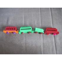 4 Vagones De Tren De Alemania,plastico