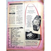 Antiguo Anuncio De Publicidad ( Longines ) Años 50s