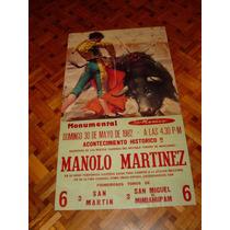 Cartel De Toros Plaza México 30 De Mayo Del 82
