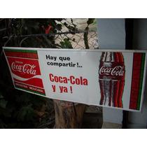 Antiguo Anuncio De Lamina Coca-cola Del Baul Del Recuerdo