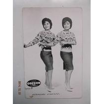 Postal Foto De Las Hermanas Jimenez Artistas De Los 60´s