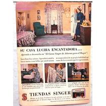 Antiguo Anuncio De Publicidad ( Singer ) Años 50s