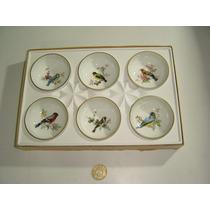 Antiguos Platitos Bowls Porcelana Alemana Kaiser Con Pájaros