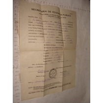 Antiguedad Boleta Del Año 1944