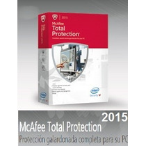 Antivirus Mcafee 2015 Total Protection 1 Año / 3 Pc
