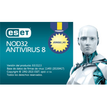 Eset Nod32 Antivirus 8 - 1 Año 20 Computadoras