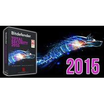 Bitdefender Total Security 2015 1 Año 3 Pcs 100 % Original