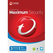 Trend Micro Maxium Security 2015 1 Año - 3 Pcs 100%original